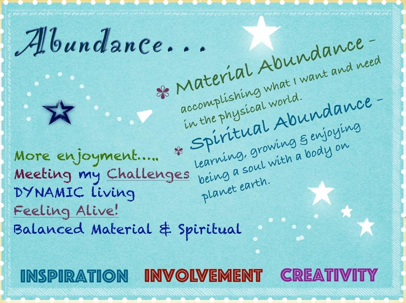 the keys to spiritual abundance