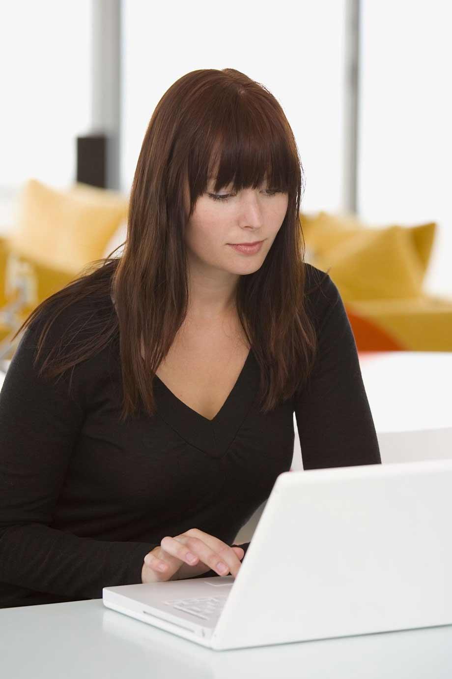lady doing webinar