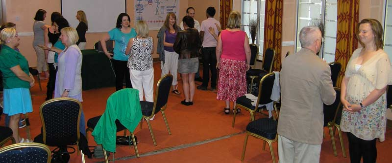 People attending a workshop